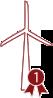 <b>Primeiro projeto eólico</b><br /> vencedor em leilão,<br /> 108MW